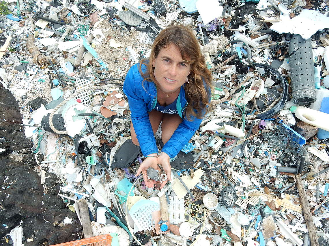 Scientist Sarah-Jeanne Royer Studies Plastics' Contribution to Greenhouse Gas Emissions © Sarah-Jeanne Royer