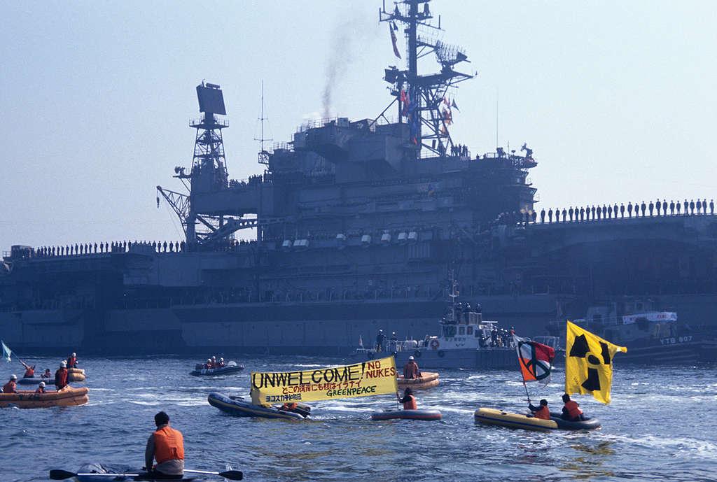 Yokosuka Peace Fleet Protest © Naoko Funahashi / Greenpeace