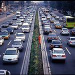 Cars in Beijing © Greenpeace / Natalie Behring