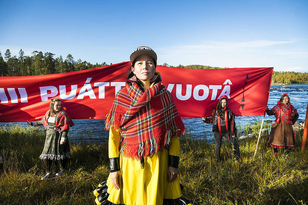 Sami Action in Lapland © Greenpeace