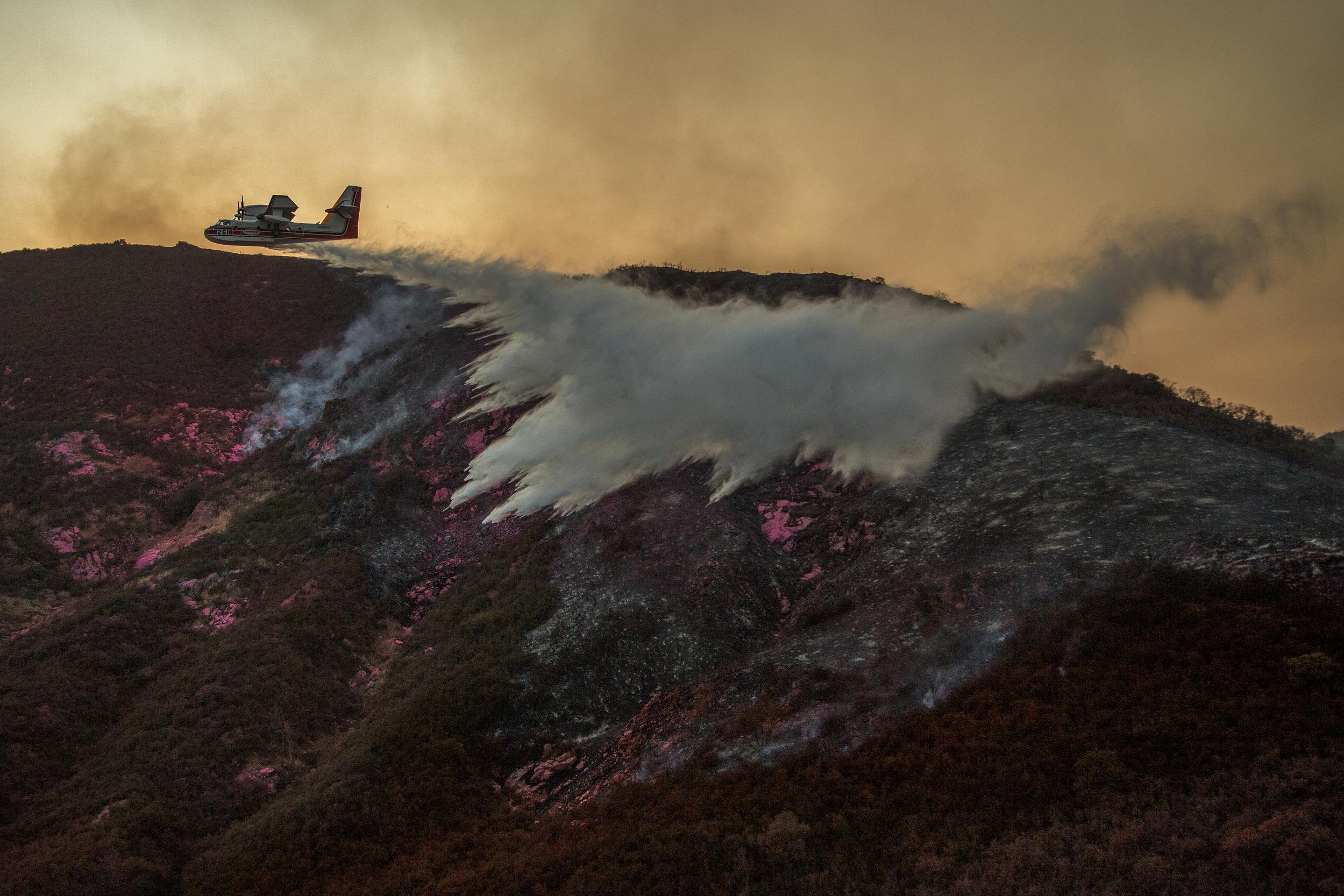 California Holy Wild Fire © David McNew / Greenpeace