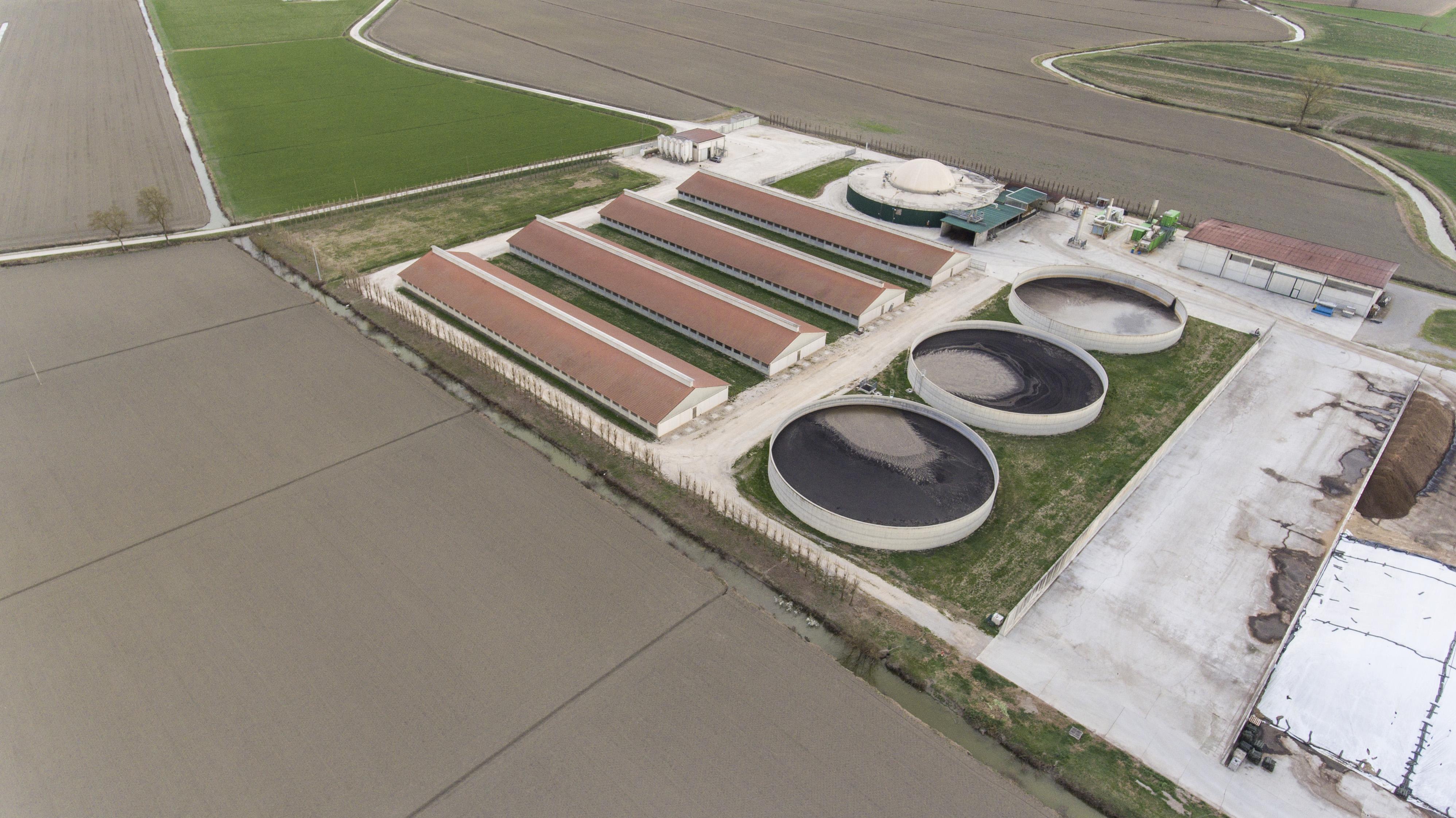 The pig factory farm in Schivenoglia, Italy © Greenpeace / Tommaso Galli