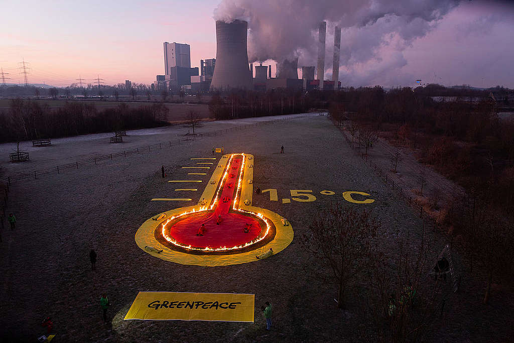 Protest at Coal Power Plant Niederaussem in Germany