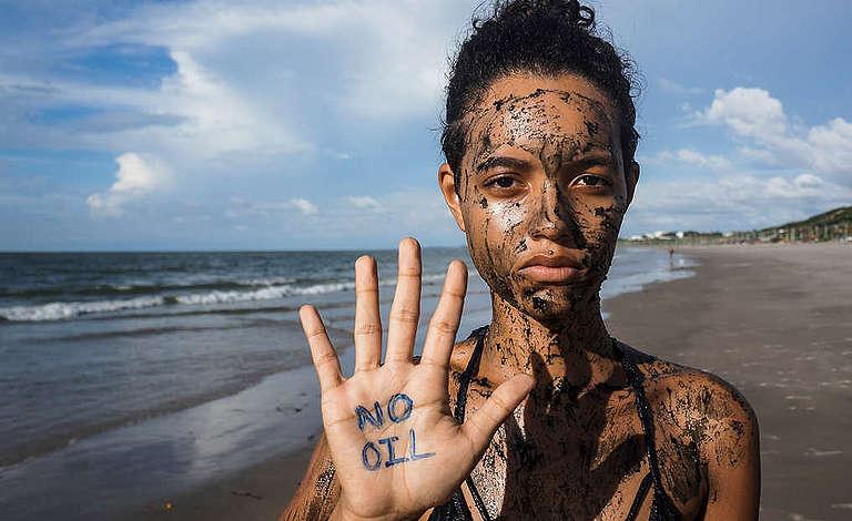 Defend the Amazon Reef Protest in Maranhão, Brazil