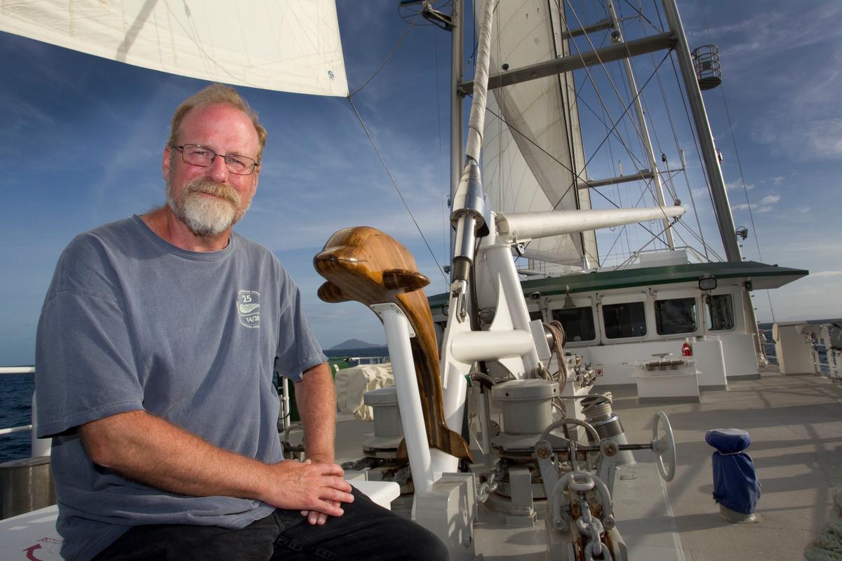 Steve Sawyer in New Zealand. © Greenpeace / Nigel Marple
