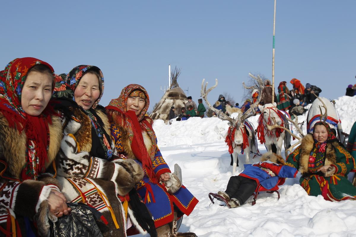 Indigenous Community in Western Siberia. © Denis Sinyakov / Greenpeace