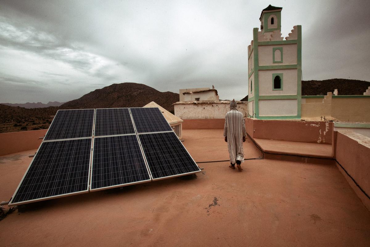 Attika School Microgrid in Tahala. © Zakaria Wakrim / Greenpeace