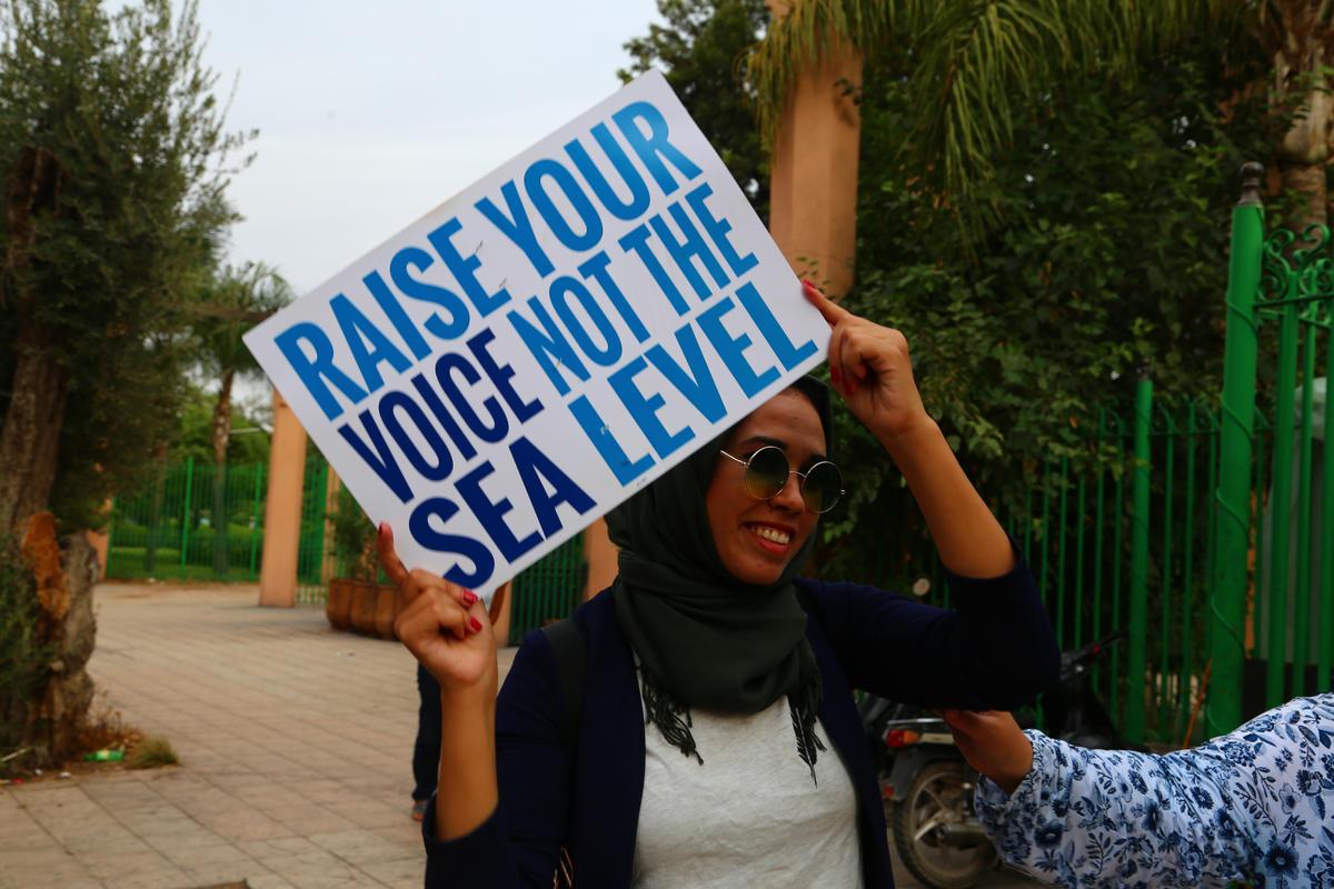 A March in Marrakech. © Anas Bouraoui / Greenpeace