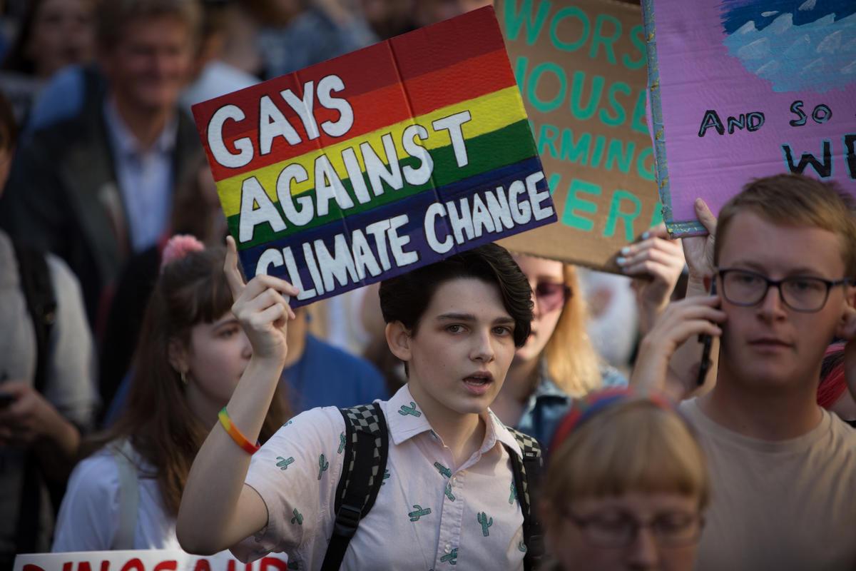 Global Climate Strike in Edinburgh. © Jeremy Sutton-Hibbert / Greenpeace