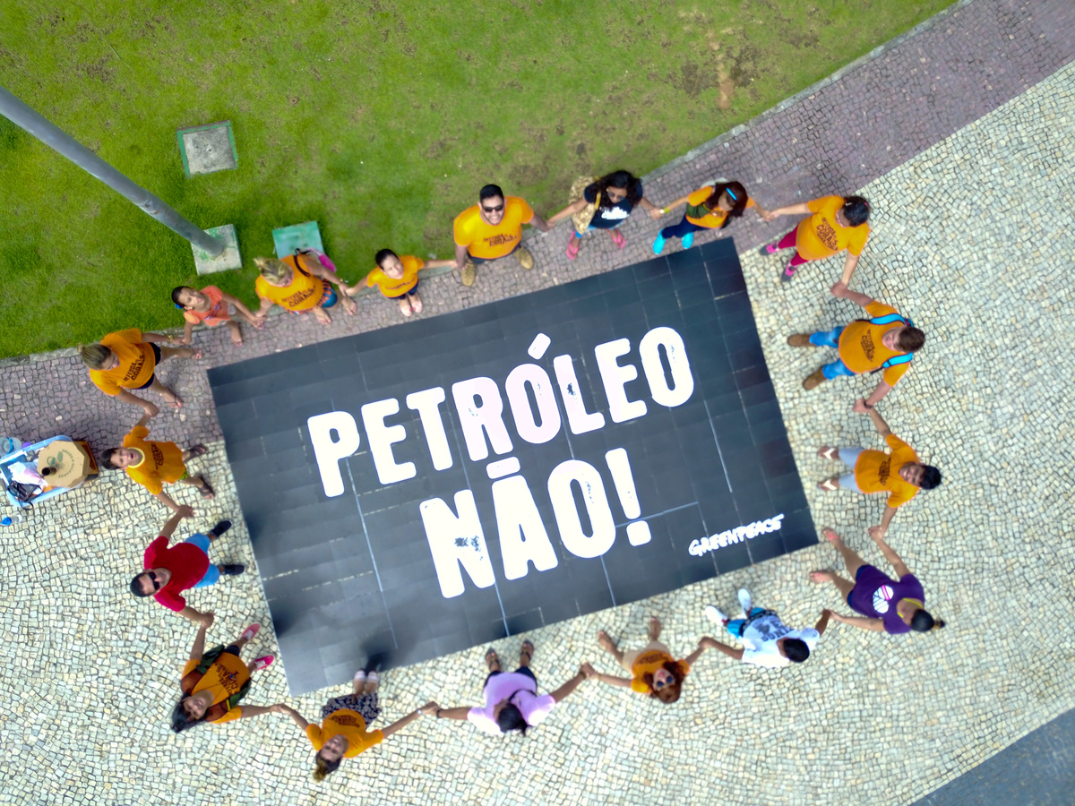 World Amazon Reef Day in Manaus, Brazil. © Kamila Oliveira / Greenpeace