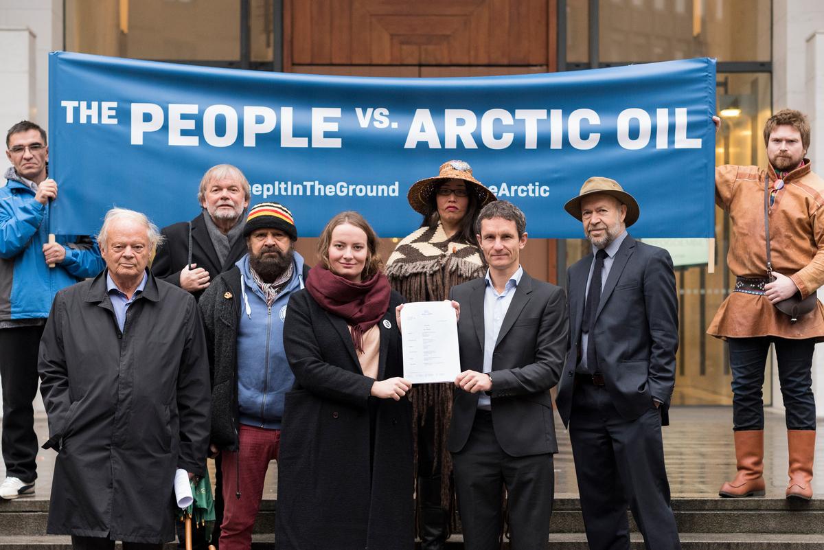 The People vs Arctic Oil: Historic Lawsuit against Arctic Oil in Oslo. © Christian Åslund / Greenpeace