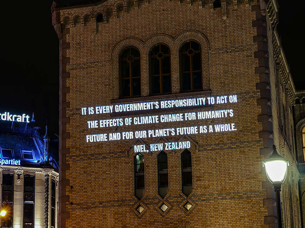 Personal statements to the Norwegian Government, collected from around the world © Greenpeace  © Greenpeace