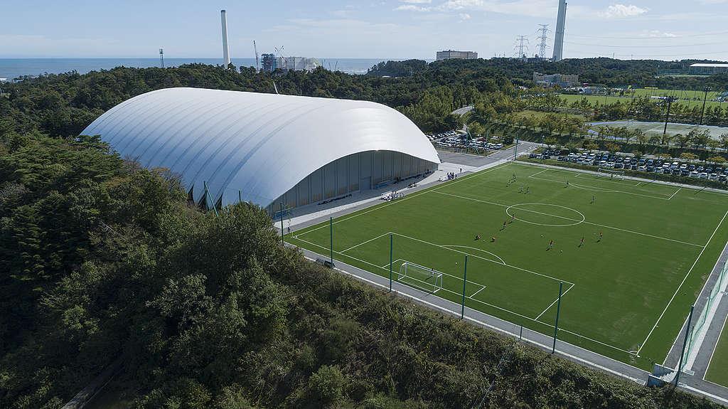 J-Village sports complex in Naraha, Fukushima Prefecture. © Christian Åslund / Greenpeace