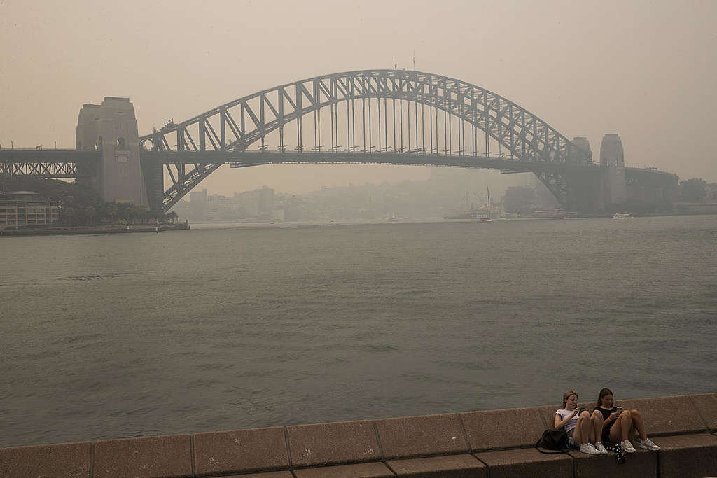 Smoke Haze in Sydney, NSW. © Cole Bennetts / Greenpeace