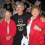 Dorothy Metcalfe (right) with Dorothy Stowe and Rex Weyler, 2004. © Rex Weyler