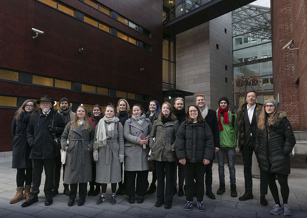 People vs Oil Court Case Oslo - Day 1© Johanna Hanno / Greenpeace