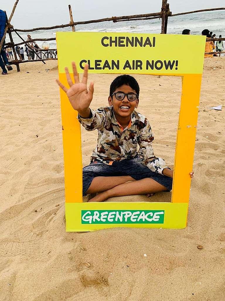 Air Pollution Activity in Chennai, India. © Greenpeace