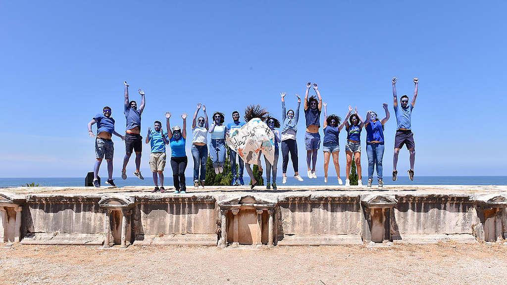 World Oceans Day Event in Lebanon. © Mazen Jannoun / Greenpeace