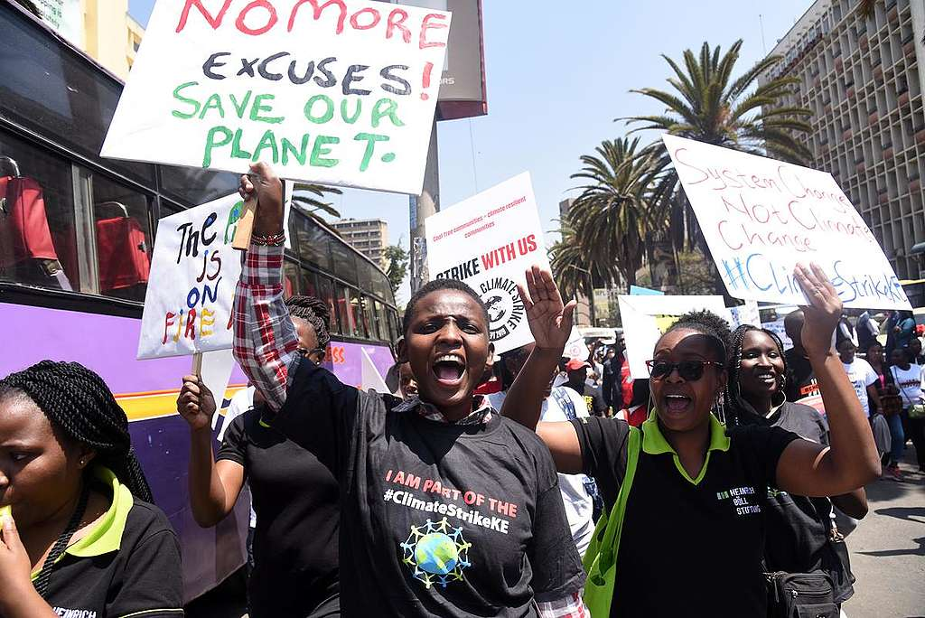 Global Climate Strike in Nairobi. © Evan Habil / Greenpeace