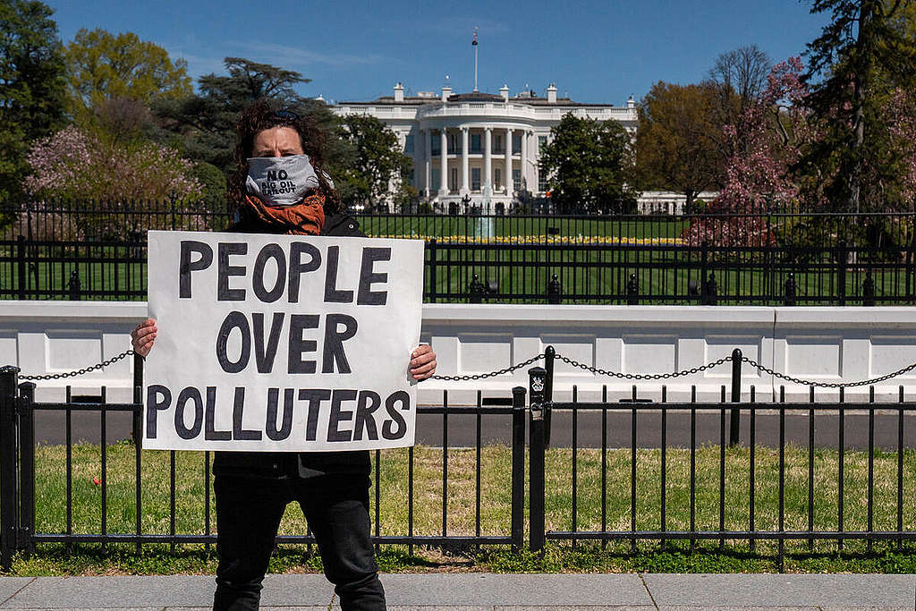 White House Oil Executives Meeting Protest in Washington D.C.
