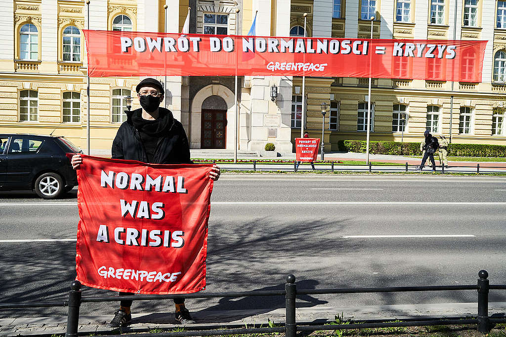 Protest at Prime Minister's Office in Warsaw