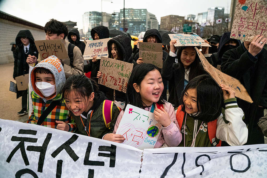 Fridays for Future Student Demonstration in Korea. © Ashley Crowther