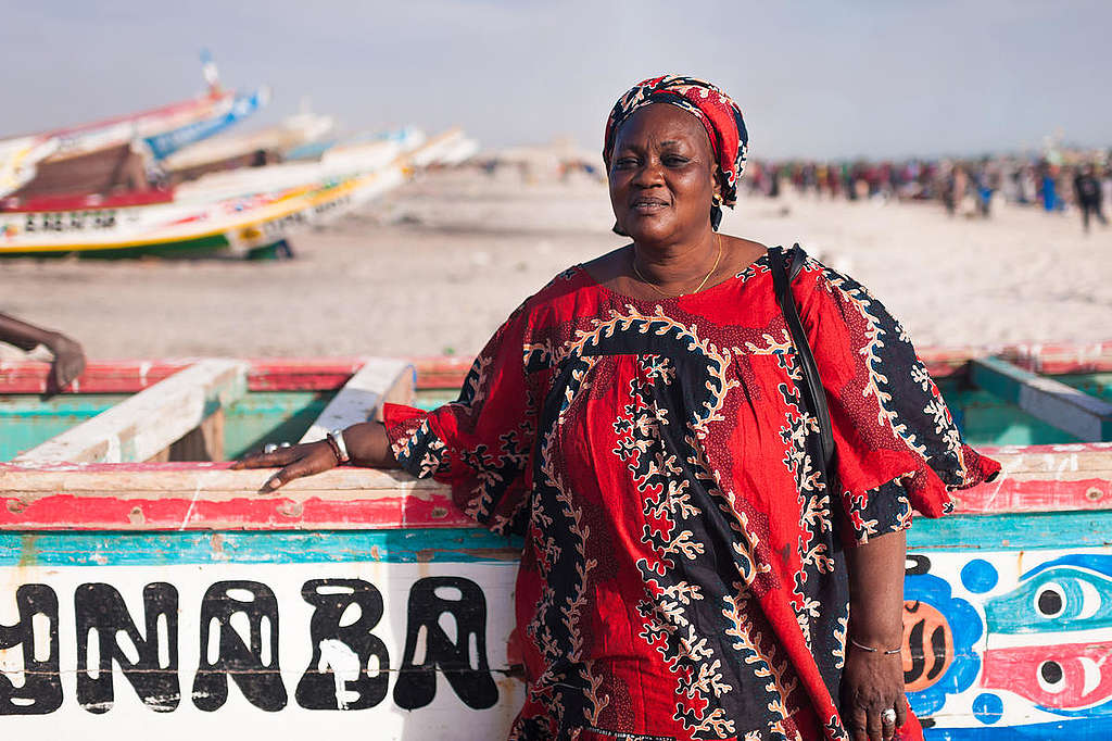 Fatou Samba in Bargny. © Clément  Tardif / Greenpeace