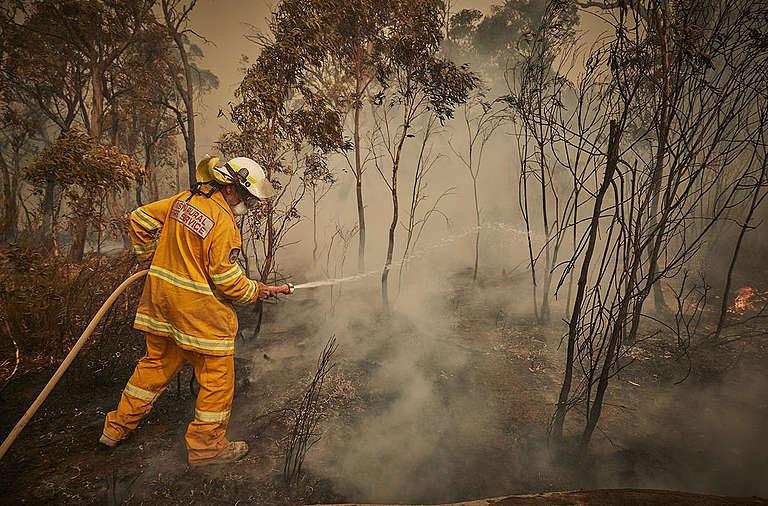 Australia's Bushfires Continue to Burn. © Kiran Ridley / Greenpeace