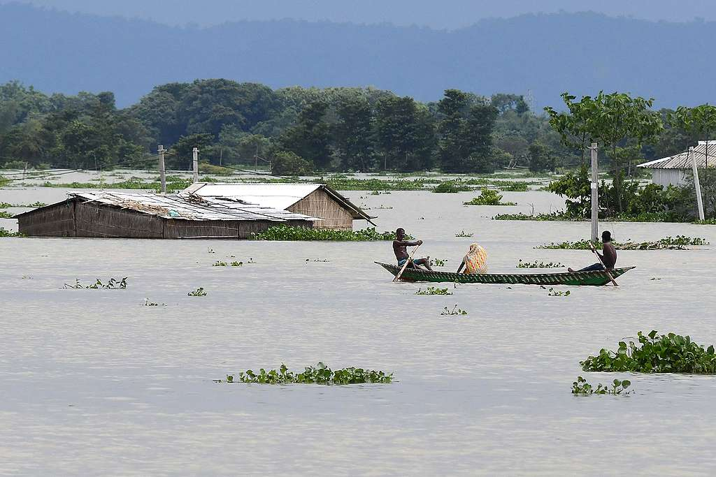Flood affected area of Assam in India. BIJU BORO/AFP via Getty Images