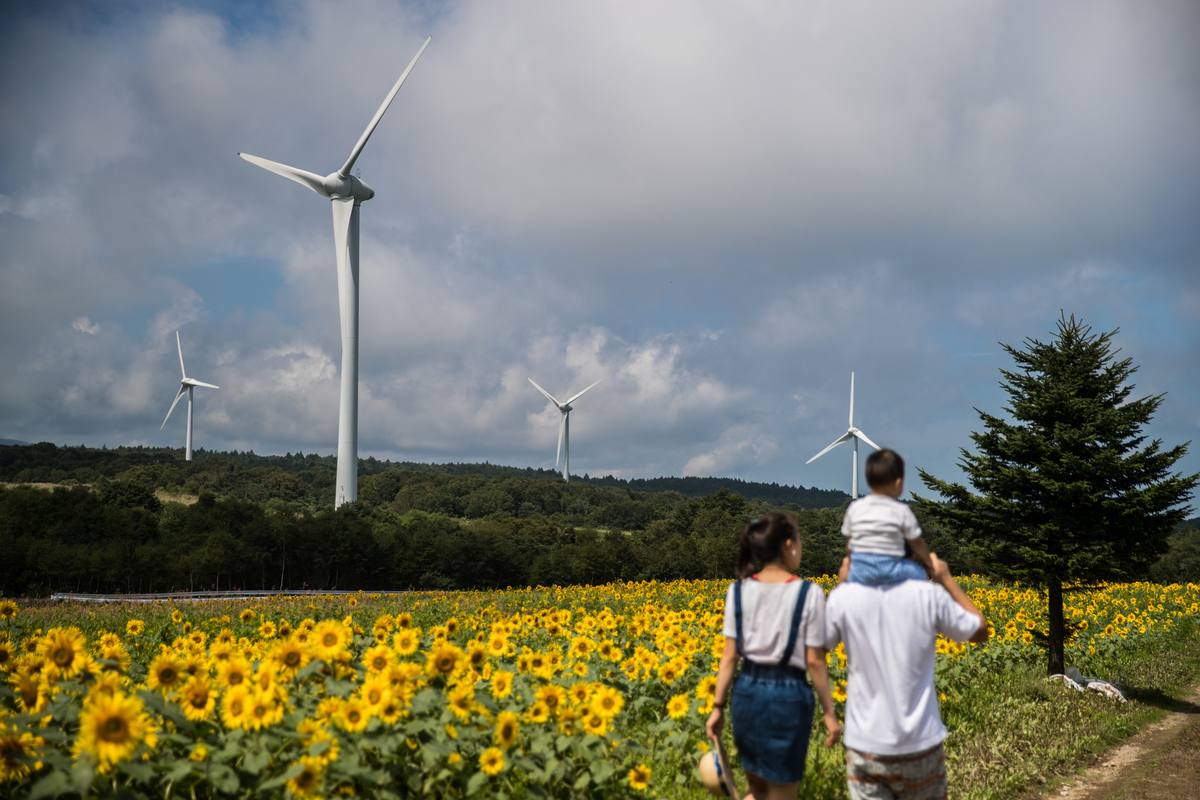 Wind Farm in Fukushima © Guillaume Bression / Greenpeace