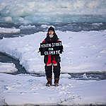Mya-Rose Craig Holds Most Northerly Climate Strike. © Daniella Zalcman / Greenpeace