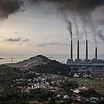 Coal Power Plants in Suralaya, Indonesia. © Ulet  Ifansasti / Greenpeace