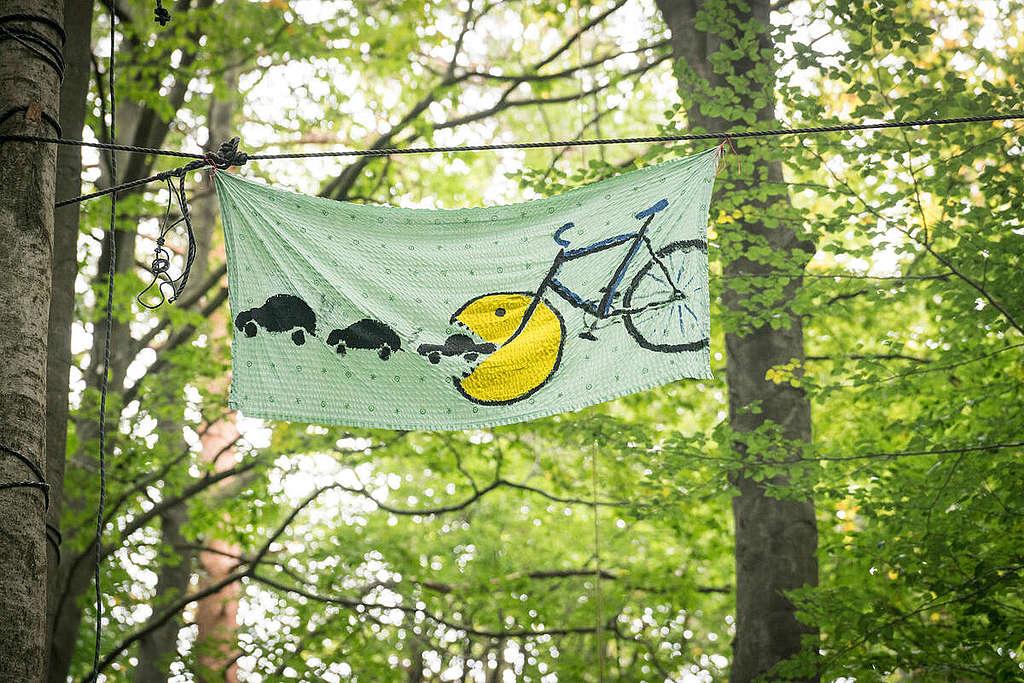 Demonstration at Dannenroeder Forest. © Bernd Lauter / Greenpeace