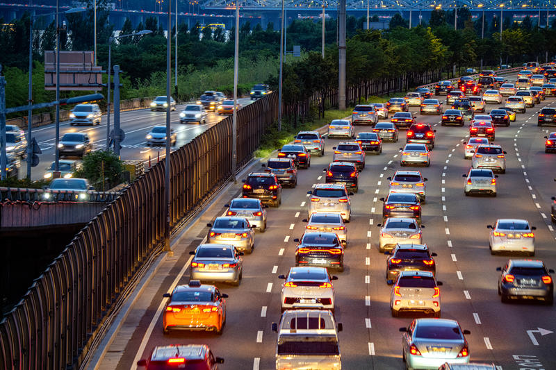Traffic in Seoul. © Sungwoo Lee / Greenpeace