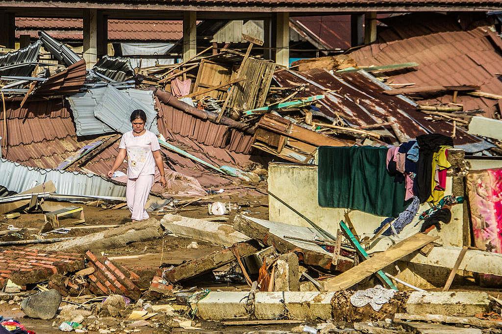 Flash Floods in South Kalimantan. © Iman Satria / Greenpeace
