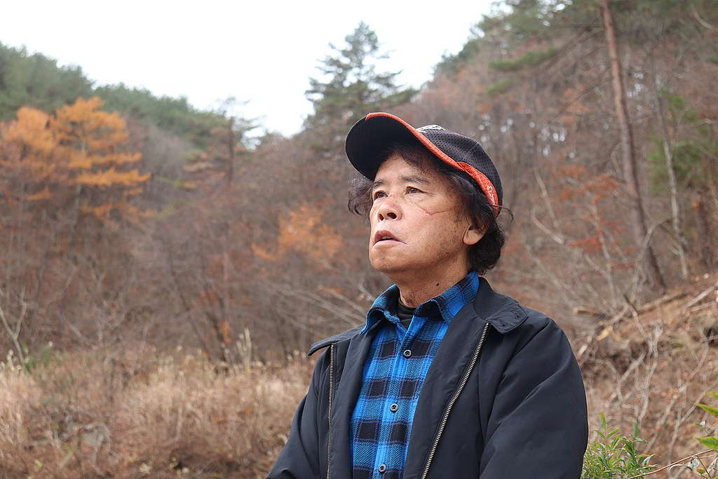 Mr. Anzai was forced to evacuate from Iitate, his home of many years, following the Fukushima Daiichi nuclear disaster.
