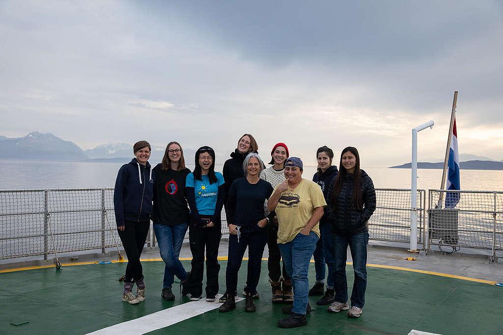 Crew onboard the MY Arctic Sunrise in Tromsø. © Daniella Zalcman / Greenpeace