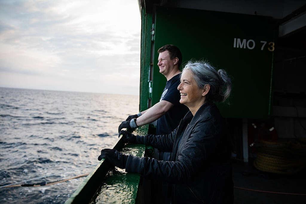 Life onboard the MY Arctic Sunrise in Tromsø. © Daniella Zalcman / Greenpeace