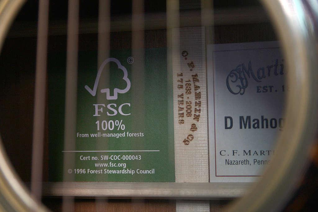 FSC Certified Guitars. © Greenpeace / Robert Meyers