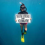 World's first underwater climate strike calls for ocean protection