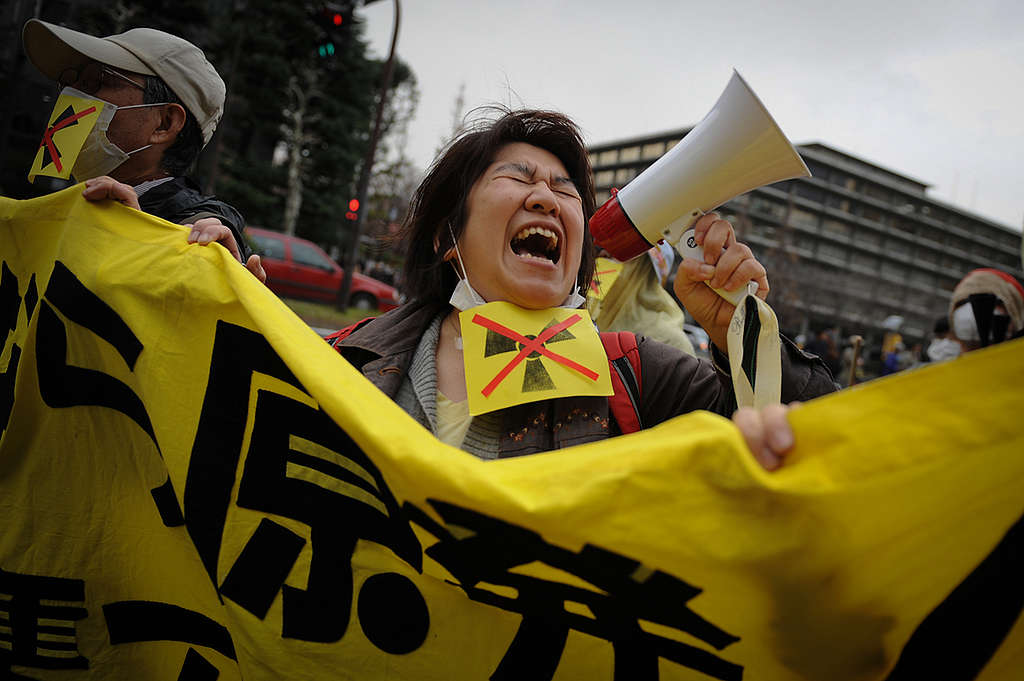 Fukushima Anniversary Protest in Tokyo. © Noriko Hayashi / Greenpeace
