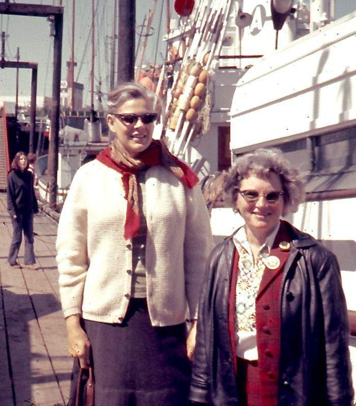 Dorothy Stowe and Marie Bohlen. © Greenpeace