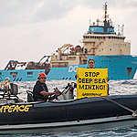 Deep sea mining industry confronted at sea for first time by Greenpeace