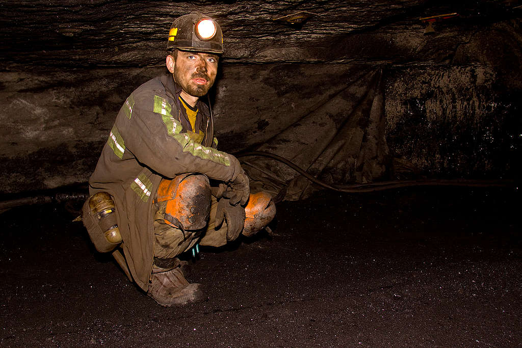 Shortwall Underground Coal Mining in US. © Greenpeace
