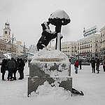 Snow Hits Madrid As Temperatures Plummet In Spain. © Pablo Blazquez Dominguez/Getty Images