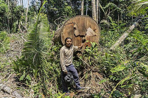 André Karipuna in Karipuna Indigenous Land, Brazil. © Rogério Assis / Greenpeace