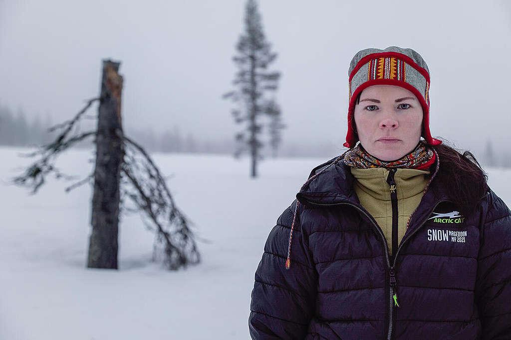 Forest and reindeer documentation in Muonio. © Rasmus Törnqvist / Greenpeace