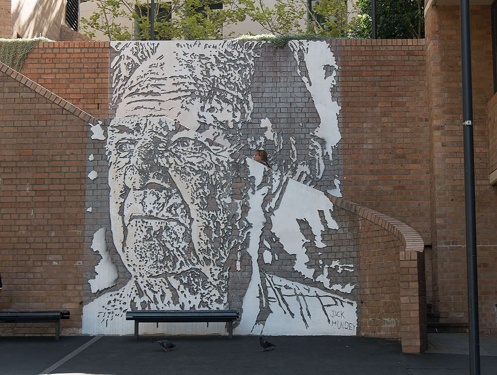 Mural featuring Jack Mundey of the Builders Labourers Federation, Sydney, Australia. © Jay Galvin / CC 2.0
