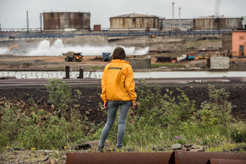Power Plant in Norilsk, Russia. © Greenpeace / Dmitry Sharomov