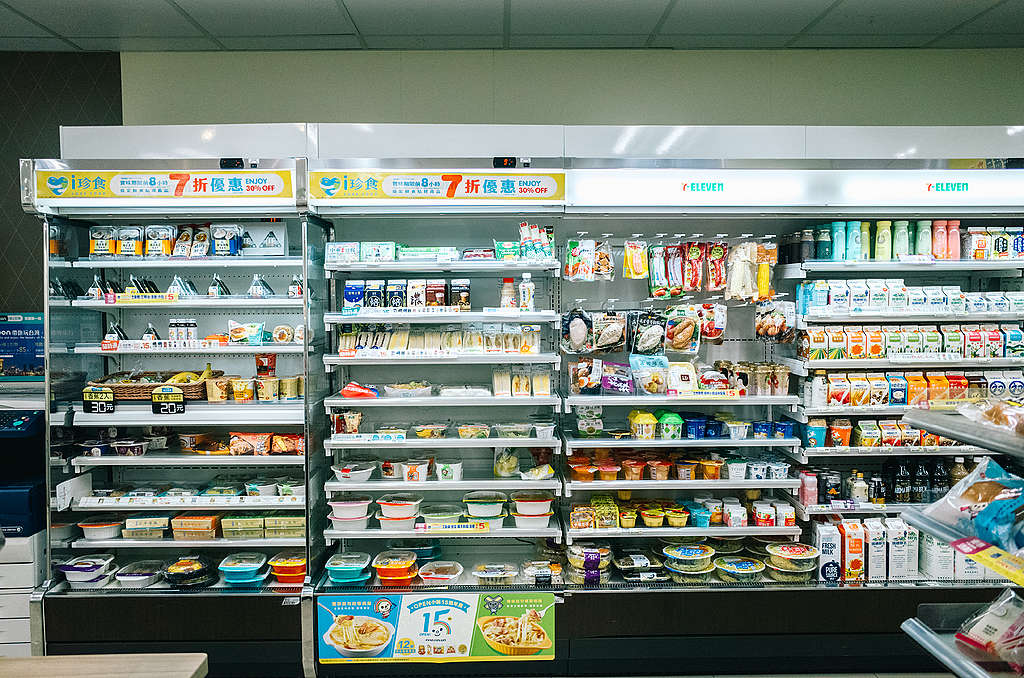Single-use plastic products at convenience stores